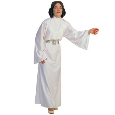 Star Wars A New Hope Deluxe Princess Leia Costume, White, One Size