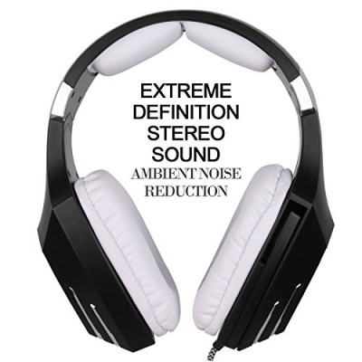 [2016 Newly Updated USB Gaming Headset] SADES A60/OMG Computer Over Ear Stereo Heaphones With Microphone Noise Isolating Volume Control LED Light (...
