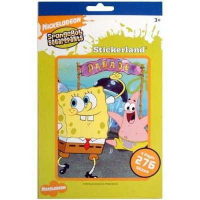 Spongebob Squarepants Stickerland Sticker Book ~ 276 Stickers by Sandy Lion