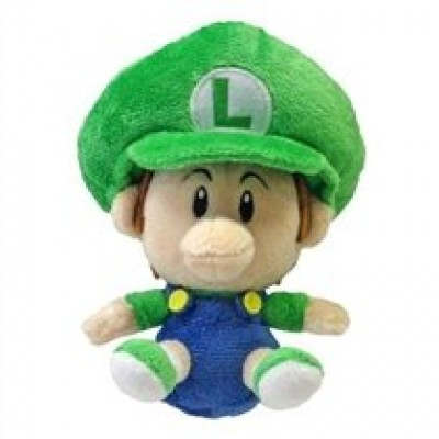 "5.5"" Official Sanei Baby Luigi Soft Stuffed Plush Super Mario Plush Series Plush Doll Japanese Import"