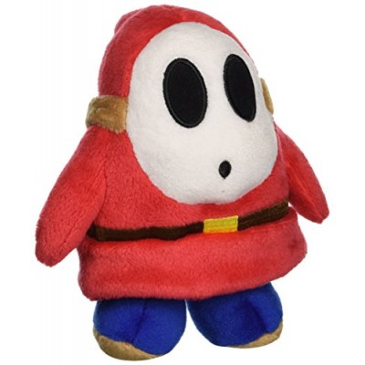 "5"" Official Sanei Shy Guy Soft Stuffed Plush Super Mario Plush Series Plush Doll Japanese Import"
