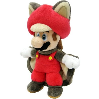 "Sanei Super Mario 9"" Squirrel Musasabi Mario Plush Doll"