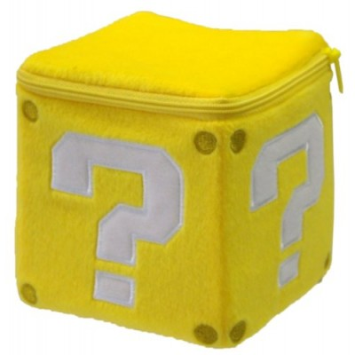 Sanei Super Mario Plush Pouch Series: Coin Block