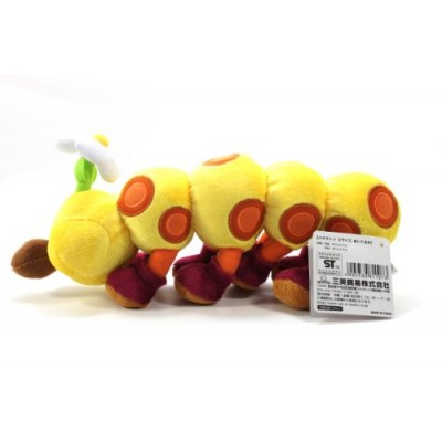 "Sanei Super Mario Plush Series Plush Doll 11"" HanaChan/Wiggler Plush Japanese Import"