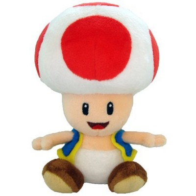 "Super Mario Plush - 6"" Toad Soft Stuffed Plush Toy Japanese Import"