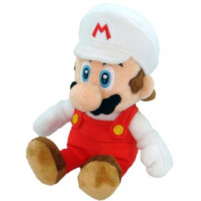 "Super Mario Plush - 8"" Fire Mario Soft Stuffed Plush Toy Japanese Import"