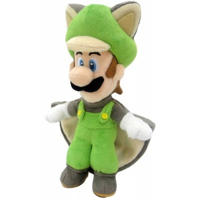 Super Mario Plush Series Plush Doll: 10-Inch Squirrel / Musasabi Luigi