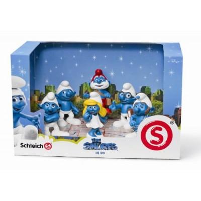 SMURFS 3D MOVIE 6 FIGURE SET Papa Smurf, Smurfette, Brainy, Grumpy, Clumsy, Gutsy