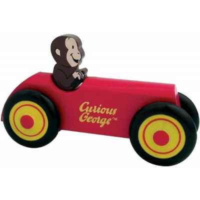 Curious George Wooden Car by Schylling - Childrens Wooden Toy