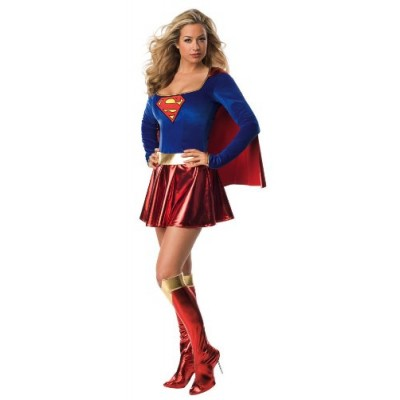 Secret Wishes Sexy Supergirl Costume, Red, S (4/6)