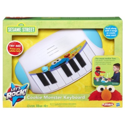 Playskool Sesame Street Let's Rock! Cookie Monster Keyboard