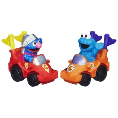 Playskool Sesame Street Racers (Super Grover and Cookie Monster)