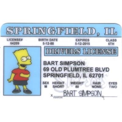 Bart Simpson Fun Fake ID License