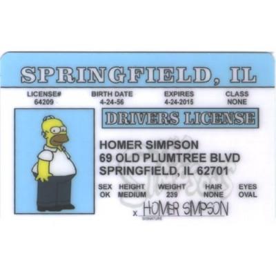Homer Simpson Driver License ID
