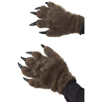 Smiffys Men's Brown Hairy Monster Hands