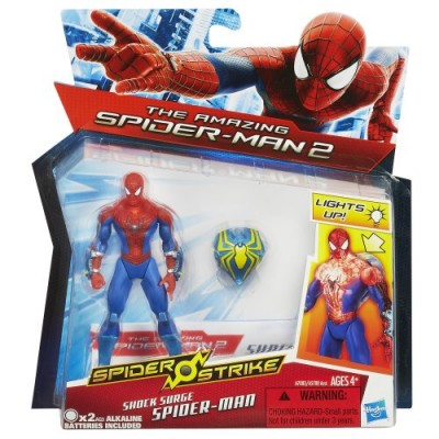 Marvel Amazing Spider-Man 2 Spider Strike Shock Surge Spider-Man Figure