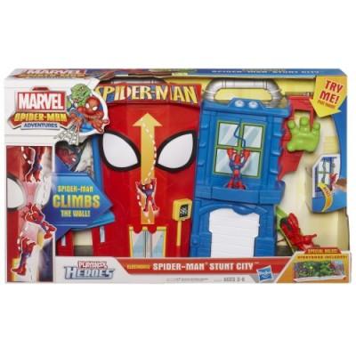 Playskool Heroes Marvel Spider-Man Adventures Electronic Spider-Man Stunt City Playset