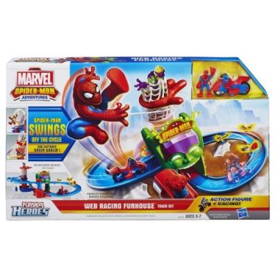 Playskool Heroes Marvel Spider-Man Adventures Web Racing Funhouse Playset