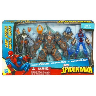 Spider-Man 3 3/4 In Battle Pack - Land
