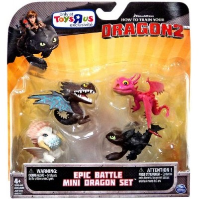 How to Train Your Dragon 2 Exclusive Figure 4-Pack Epic Battle Mini Dragon Set [Terrible Terror, Toothless, Bewilderbeast & Skrill]