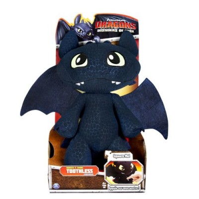 "DreamWorks Dragons Defenders of Berk - Squeeze & Growl Toothless, 11"" Plush with Sound FX"