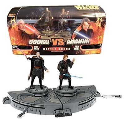 Hasbro Year 2005 Star Wars Revenge of the Sith Series 4 Inch Tall Action Figure Playset - TRADE FEDERATION CRUISER Battle Arena with COUNT DOOKU vs...