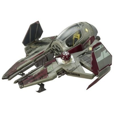 Hasbro Year 2006 Star Wars The Saga Collection Episode III Revenge of the Sith Vehicle Set - Obi-Wan Kenobi's Jedi Starfighter with Opening Canopy,...