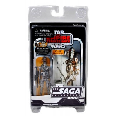 "Hasbro Year 2007 Star Wars The Saga Collection Movie Series ""The Empire Strikes Back"" 5 Inch Tall Vintage Action Figure : IG-88 BOUNTY HUNTER with ..."