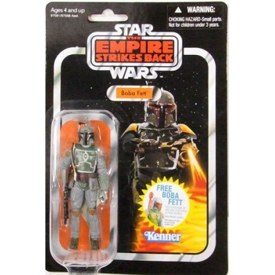 """Hasbro Year 2010 Star Wars Vintage Kenner Reproduction """"The Empire Strikes Back"""" Series (1980-1982) 4 Inch Tall Action Figure - BOBA FETT with Helm..."""