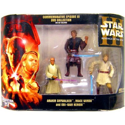 Star Wars Commemorative Episode III Revenge of the Sith DVD Collection 3-Pack Anakin Skywalker, Mace Windu and Obi-Wan Kenobi