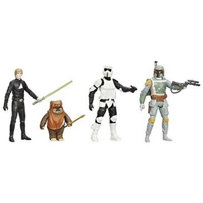 STAR WARS Digital Release Commemorative Collection - Episode 6 Return of the Jedi - Luke Skywalker, Boba Fett, Biker Scout Stormtrooper, Wicket Ewo...