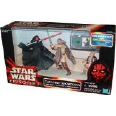 "Star Wars Episode 1 "" Tatooine Showdown "" Darth Maul. Qui=Gon-Jinn & Anakin Mib"