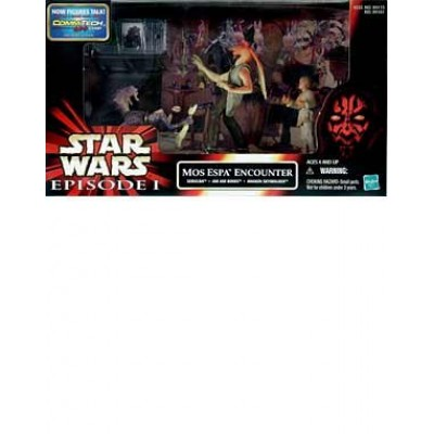Star Wars Episode 1 The Phantom Menace Movie Scene Action Figure Playset - Mos Espa Encounter with Sebulba, Jar Jar Binks and Anakin Skywalker Figu...