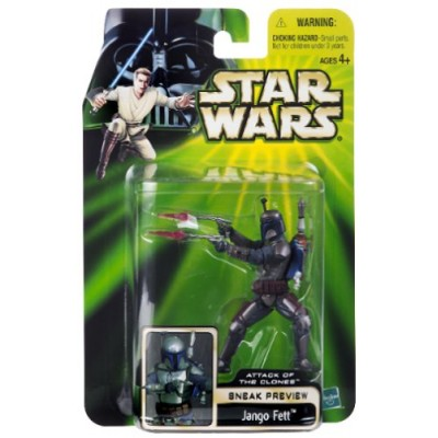 Star Wars Episode II Attack of the Clones Sneak Preview Figure - Jango Fett