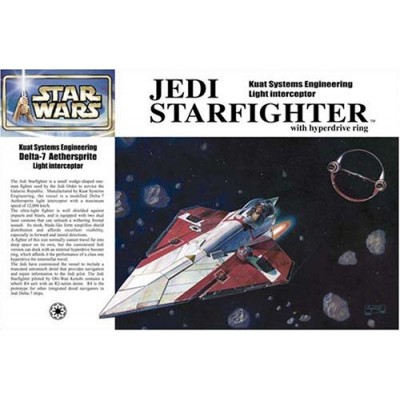 Star Wars Episode II Obi-Wan Kenobi Jedi Starfighter Japanese Collectible 1/72-Scale Model Kit