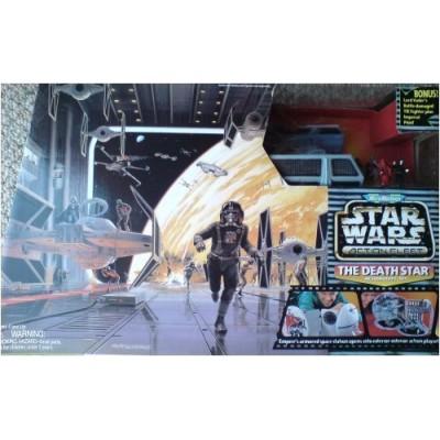 Star Wars Micro Machines Death Star w/ Darth Vader Tie Fighter Micromachines