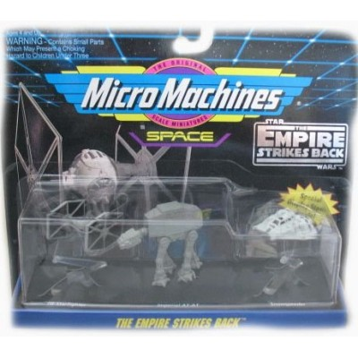 Star Wars Micro Machines Empire Strikes Back with Tie Starfighter, Imperial AT-AT & Snowspeeder Vehicle