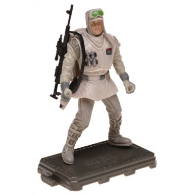 Star Wars Saga 2004 Empire Strikes Back Action Figure #01 Hoth Trooper Hoth Evacuation BiLingual Card