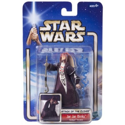 "Star Wars Saga Collection Jar Jar Binks Gungan Senator ""Attack of the Clones"" Figure No 24"