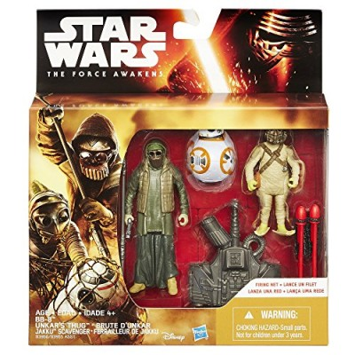 Star Wars The Force Awakens 3.75-Inch Figure 3-Pack Desert Mission BB-8 and Unkar's Thug