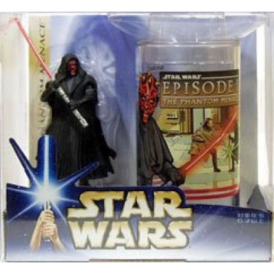 Star Wars: The Phantom Menace Darth Maul Collectible Figure & Cup