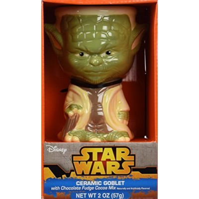Star Wars Yoda Ceramic Goblet with Chocolate Fudge Cocoa Mix Gift Set