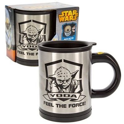 Star Wars Yoda Self Stirring and Spinning Mug - Mix Your Drink with the Force