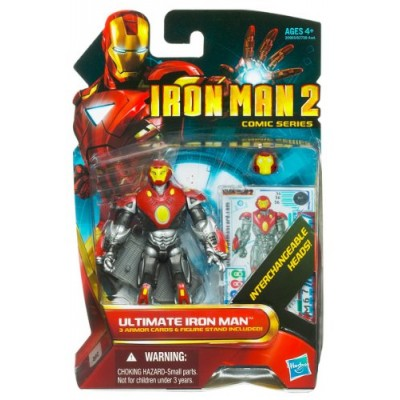 Iron Man 2 Comic Series 4 Inch Action Figure #36 Ultimate Iron Man by Super-Heroes