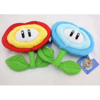 1 Set of Super Mario Bros Fire Flower & Ice Flower Plush Doll Soft Toy Nintendo