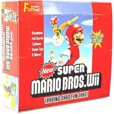 Super Mario Bros. Wii Enterplay Trading Card Fun Pak Box 24 Packs