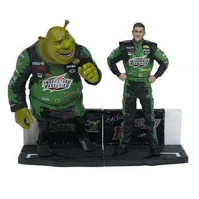 Nascar & Shrek Figure 2-Pack: Bobby Labonte and Shrek