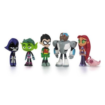 Teen Titans Go Teen Titans Action Figure (6-Pack), 2""