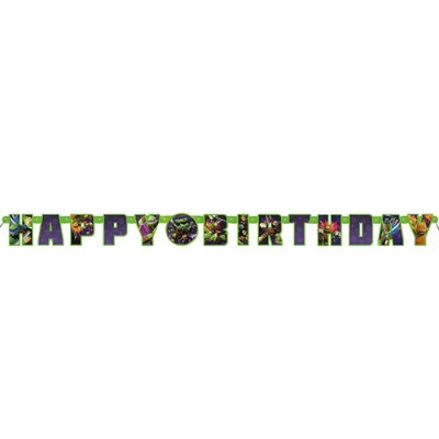5ft Teenage Mutant Ninja Turtles Birthday Banner