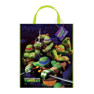 "Large Plastic Teenage Mutant Ninja Turtles Favor Bag, 13"" x 11"""